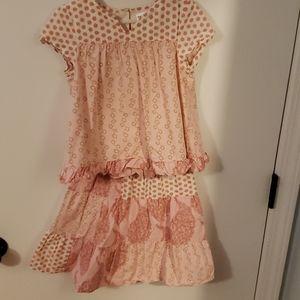 Girls top & skirt set